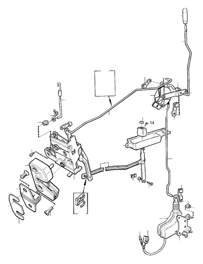 Volvo 760 Link. Door. Locking System. (AU). (Rear). TURBO