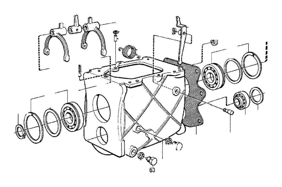 Volvo 260 E circlip. Gearbox, Transmission, Manual