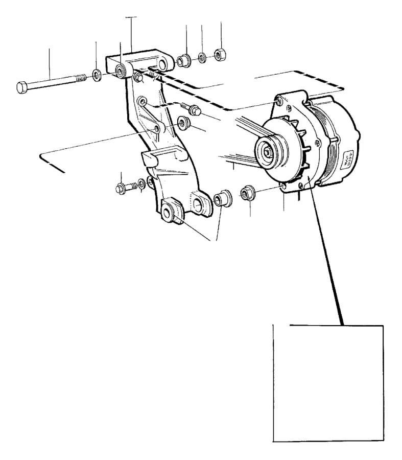 Volvo 240 Bushing. Generator, Alternator, Mounting