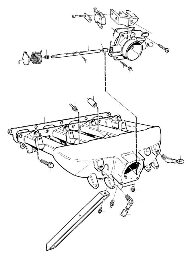 Volvo C70 Cross recessed Screw. Manifold, Inlet, TRANS