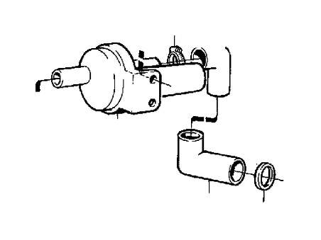 1993 Volvo 240 Auxiliary Air Valve. Fuel Supply. Jetronic
