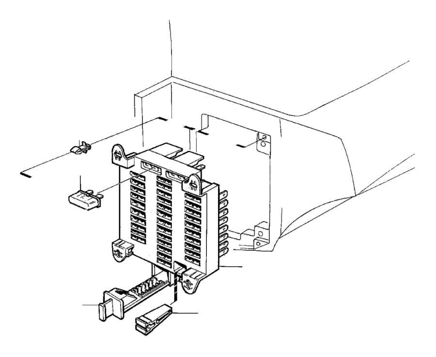 Volvo V70 Fuse Puller. Electrical, Distribution, Fuses