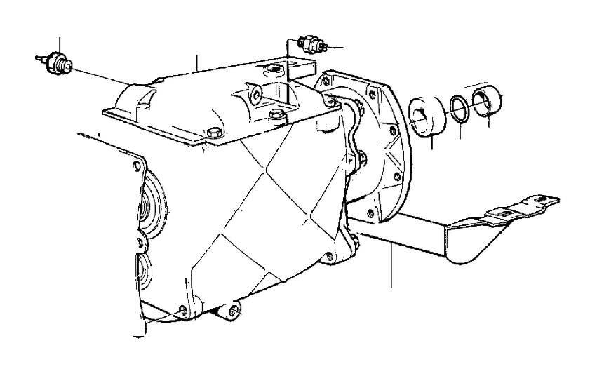 Volvo 240 Manual Transmission. Transmission MARKED 1208713