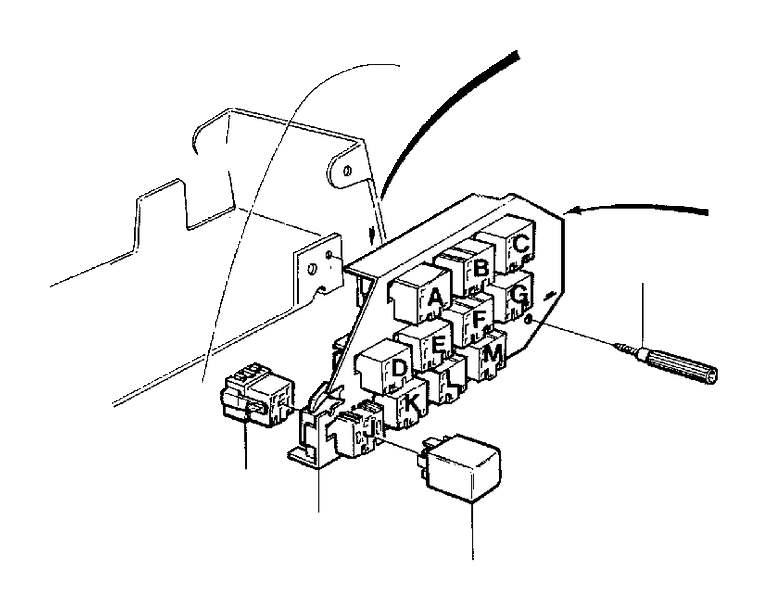 Volvo 960 Failure Sensor. Bulb Failure Warning Relay is