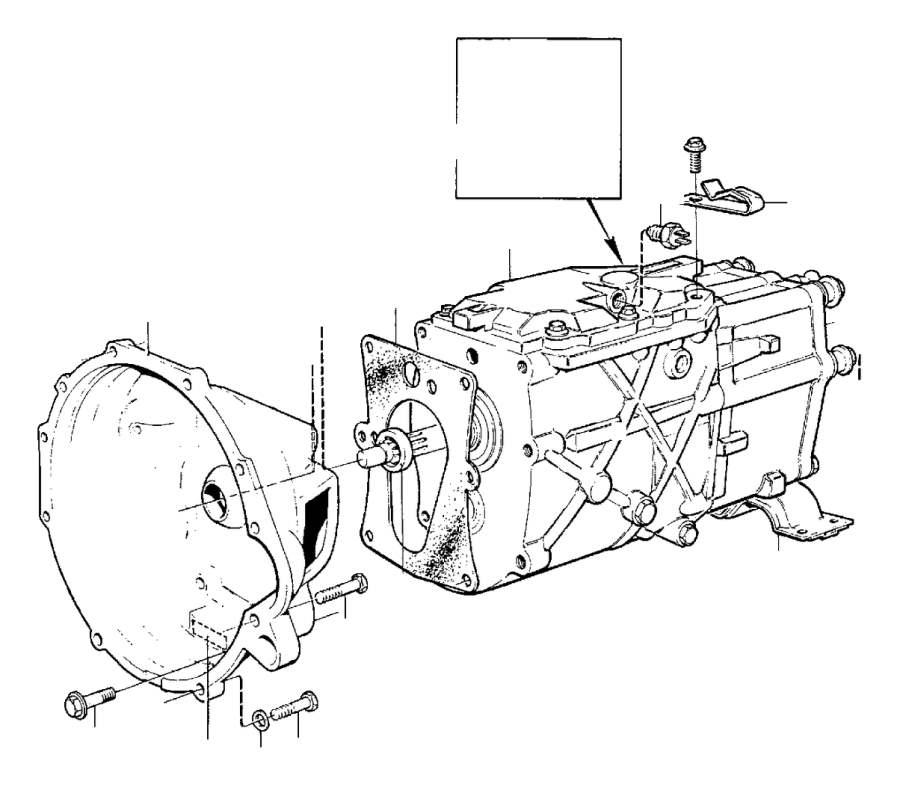 Volvo 240 Clutch Housing. Diesel. Gearbox, Manual. Manual