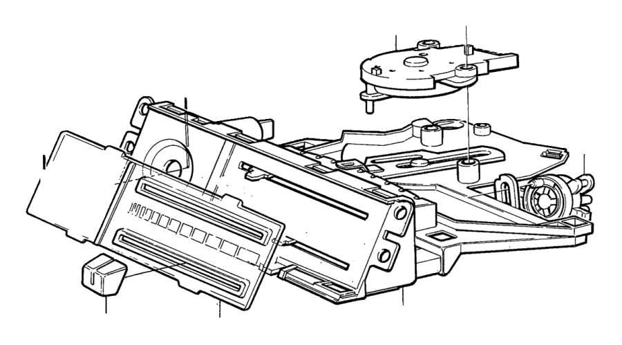 Volvo 760 Vacuum Valve. COMBU. Heater Controls. Without AC