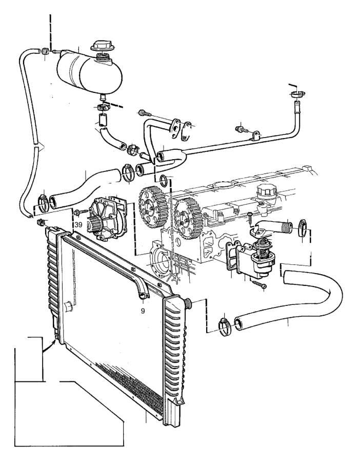 Volvo XC90 Engine Coolant Reservoir Hose Clip. RETAINER