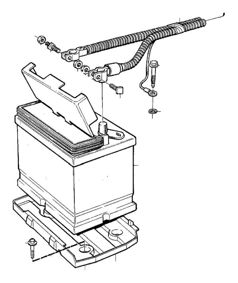 Volvo 240 Wiring Harness. Battery. 4CYL. System