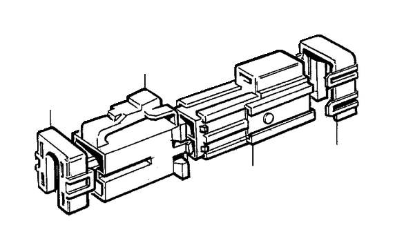 Volvo V70 XC Insulator Retainer. Bottom Rail. Cable