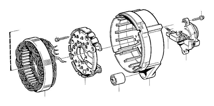 Volvo 240 Rubber Bushing. Alternator. Generator (ac