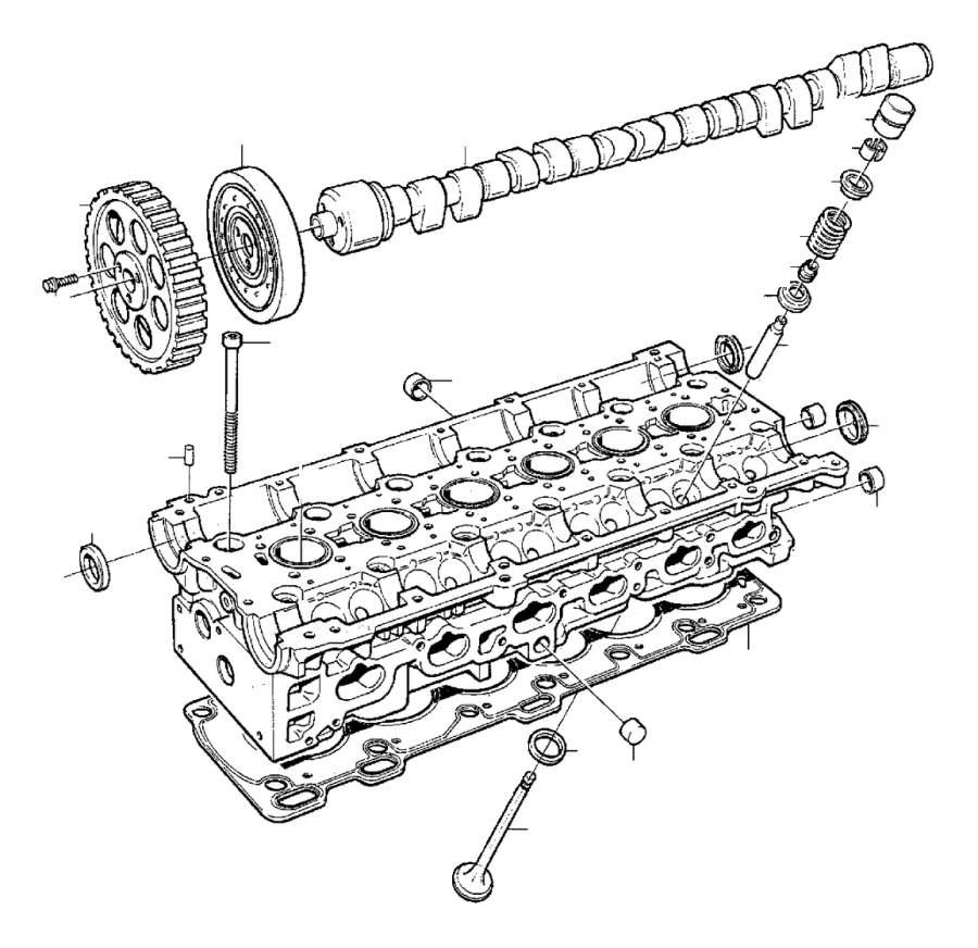Volvo C70 Engine Valve Stem Oil Seal. Head, Cylinder
