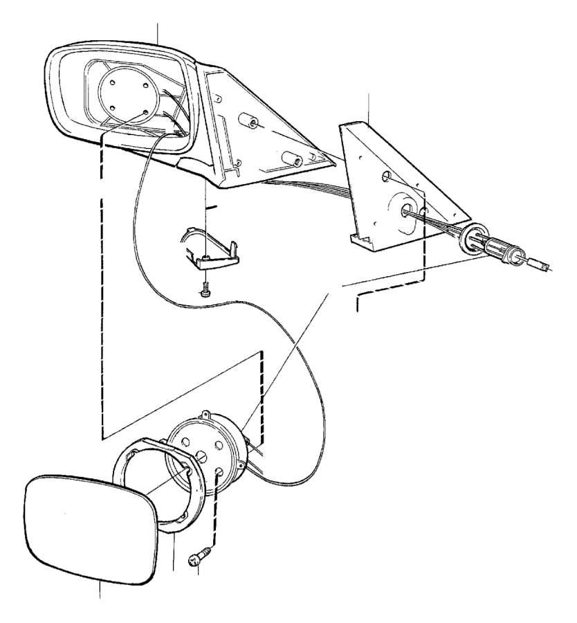 Volvo 740 Control. Door Mirrors, Manual. Rear View Mirror