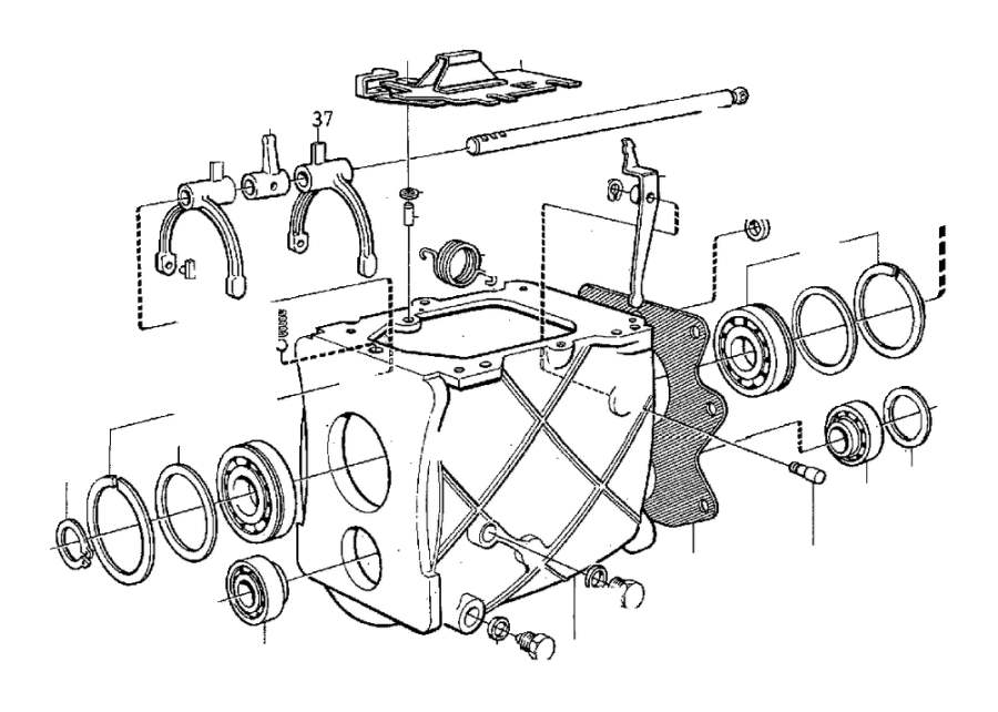 Volvo S70 E circlip. Gearbox, Transmission, Manual