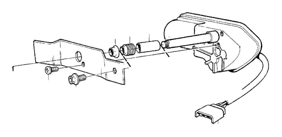 Volvo 850 Sems Screw. Headlight Washers. Headlight Wipers