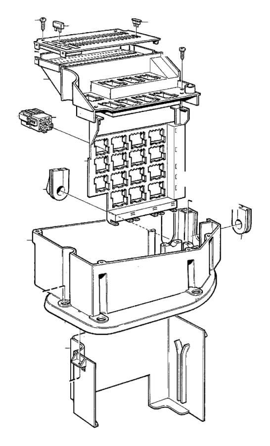 Volvo C70 Grommet. Electrical Distribution Center, fusebox