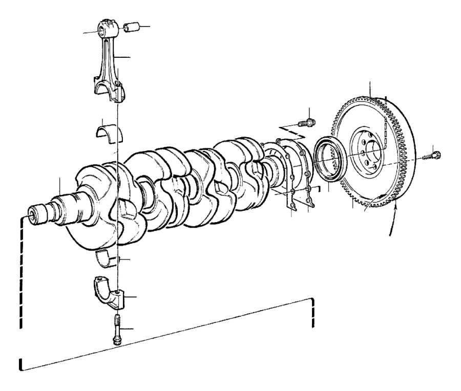 Volvo 940 Bearing Bushing. Crank, Mechanism, TRANS