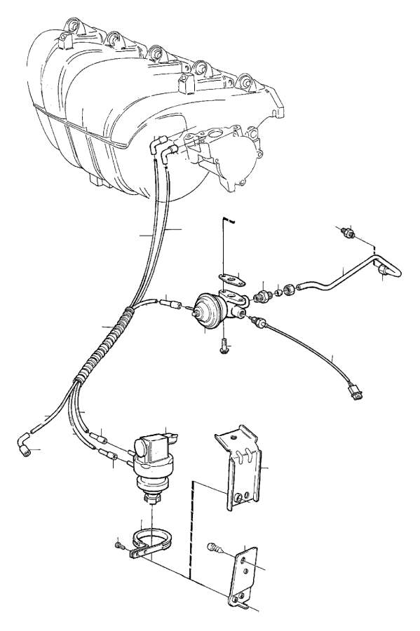 Volvo 850 Flange Screw. B5202FS. Exhaust Gas Recirculation