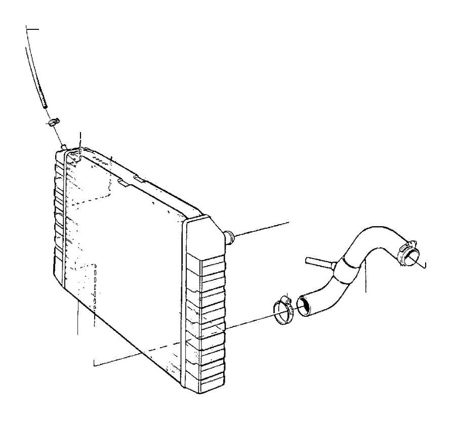Volvo C70 Engine Coolant Overflow Hose. Radiator, Hoses