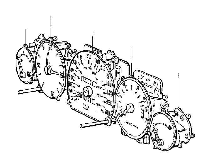 Volvo 960 Tachometer. Combination Instrument. Combined