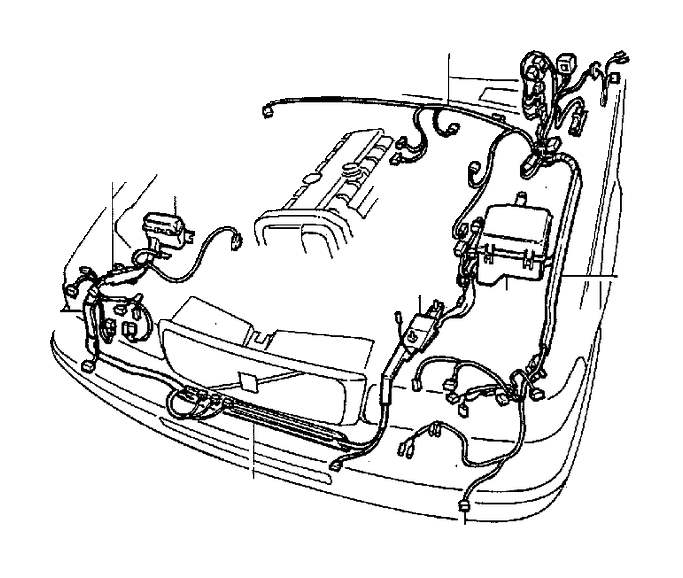 Volvo 960 Guide. Cable Harness, Cable Conduit. Engine