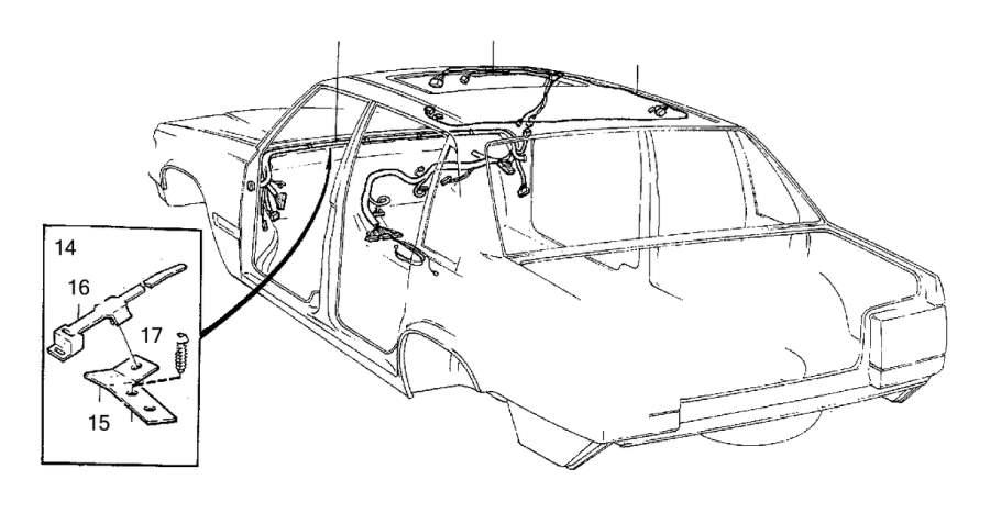 Volvo 850 Wiring Harness. Bottom Rail. Bulkhead. Cabin