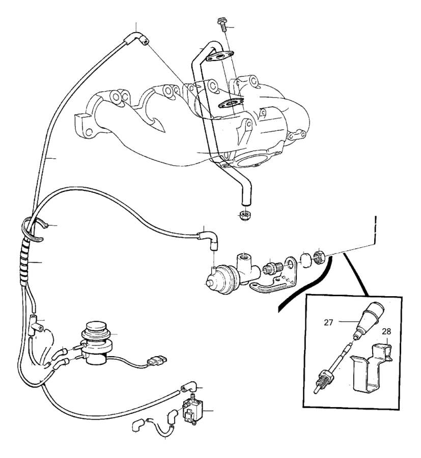 Volvo 960 Egr valve, exch. Egr valve, (exchange