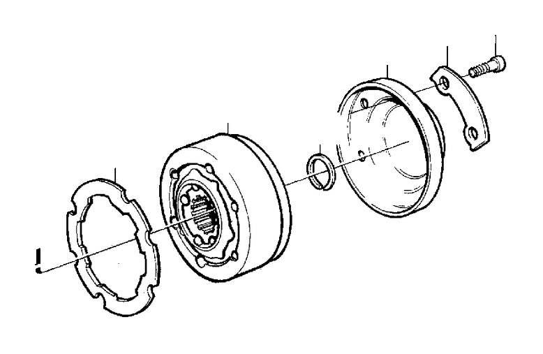 Volvo S70 Hex. Socket screw. Bearing, Mounting, Shaft