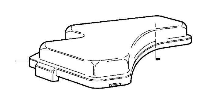 Volvo V70 XC Fuse Box Cover. Diesel. DSL. Main Fuse Box