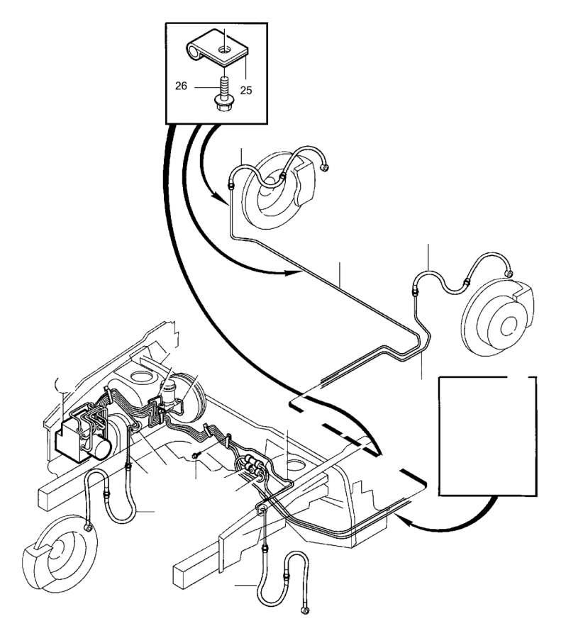 Volvo V40 Brake Lines. Brake Pipes. LARGE 2860 mm. TURBO