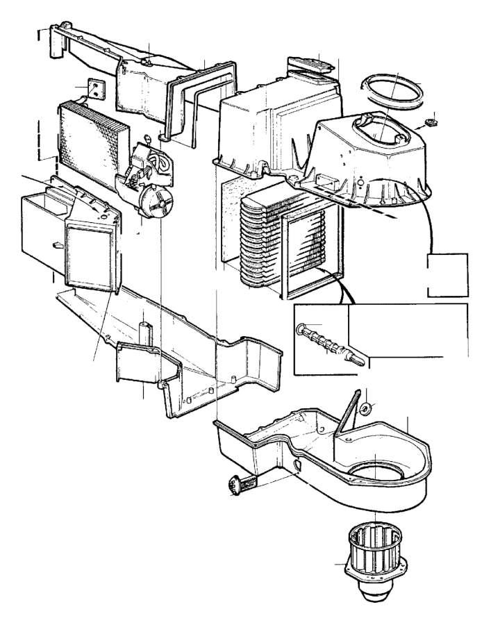 Volvo 940 Evaporator. COMBU. Heater Unit. Temperature