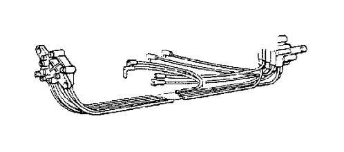 Volvo 760 Adapter. Adapter between 1388208 9, 1388206 3