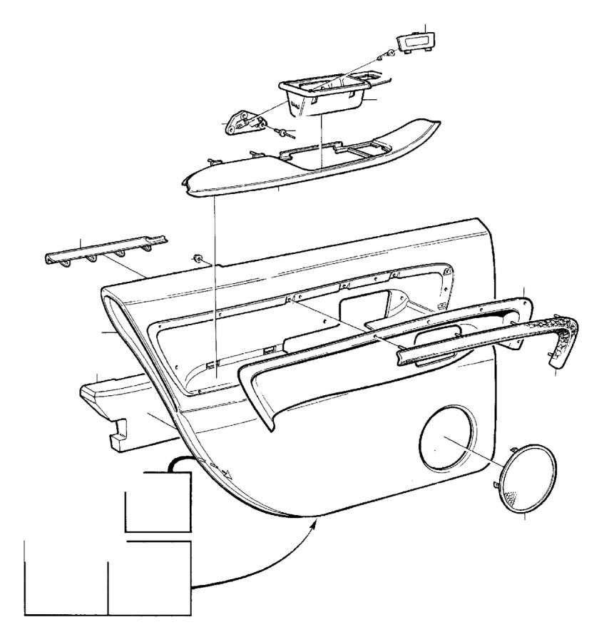 Volvo 960 Arm Rest. Parts Door Panel. 20 22. (Left, Rear