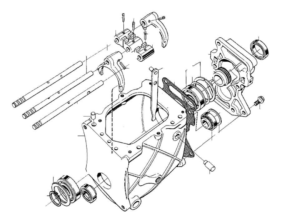 Volvo 940 SE Ball Bearing. Transmission, Gearbox, Manual