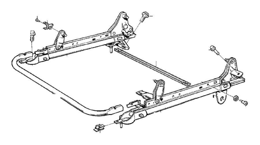Volvo S70 Flange Screw. Seat, Adjustment, Subframe