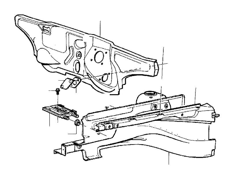 Volvo 850 Frame Rail. AWD. Body Frame. CH 286767. Section