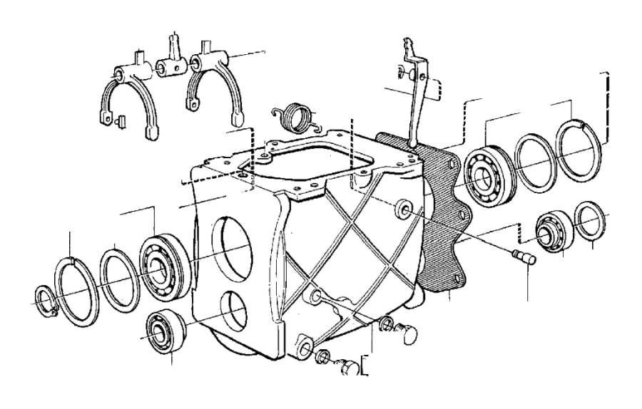 Volvo 960 Intermediate Lever. Transmission, Gearbox