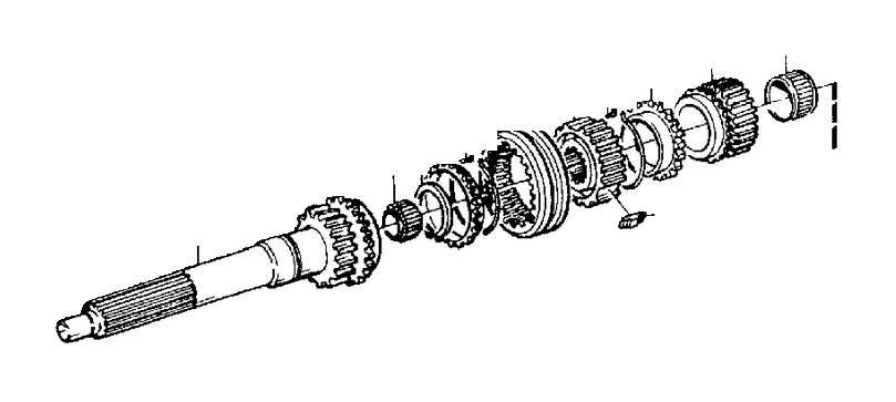 Volvo 740 Locating Key. Transmission, Gearbox, Manual