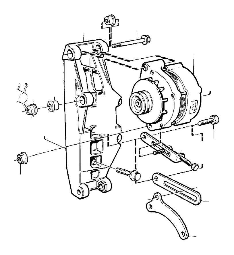 Volvo 780 Tensioning Arm. Alternator. Generator (ac). 70A