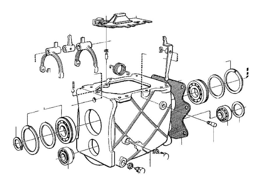 Volvo 940 Intermediate Lever. Transmission, Gearbox