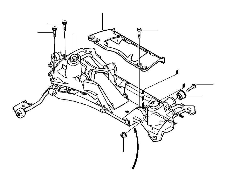 Volvo S70 Bushing. AWD. Suspension. (Rear). MULTI-LINK