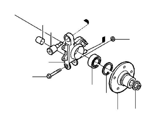 Volvo S70 Suspension Knuckle (Right, Rear). Bearing