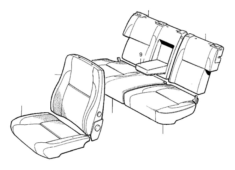 Volvo 850 Interior Trim and Upholstery. Reinforced. 4DRS