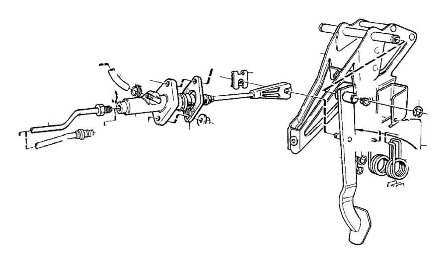 Volvo V70 Bracket. Auto.TRANS. AWD. Brake Pedal. Clutch