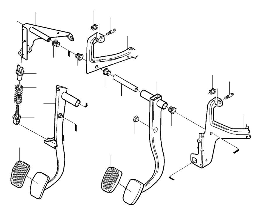 Volvo S60 Bracket. Brake Pedal. (Right). With Fittings