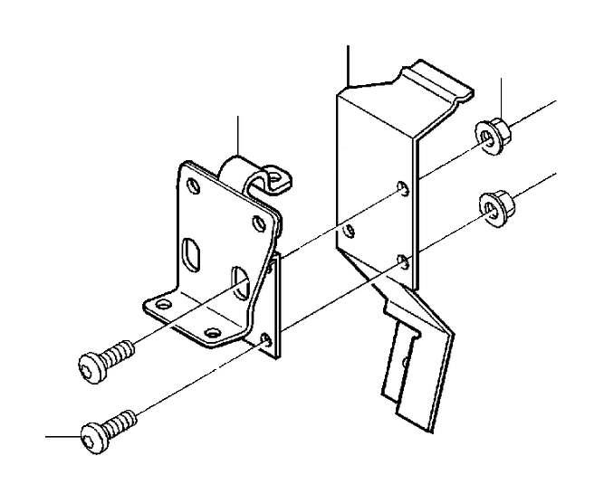 Volvo S80 Cross recessed screw. System, Control, Mobile