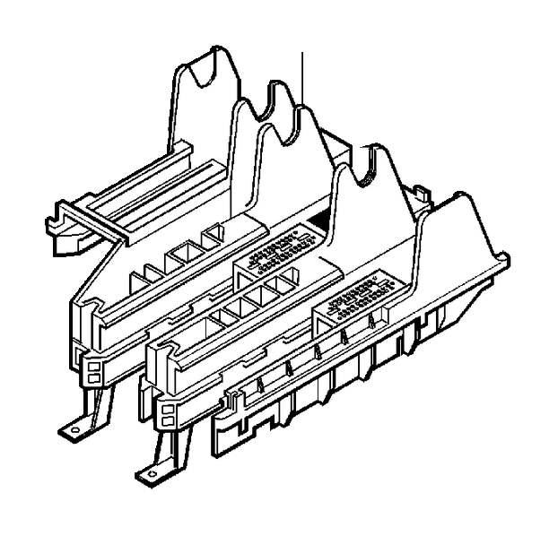 Volvo V70 XC Fuse Box Bracket. EXC DSL. Engine, Harness