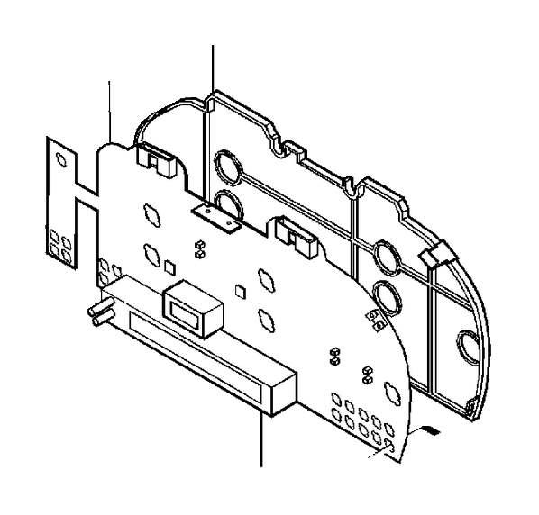 Volvo V70 XC Instrument Panel Circuit Board. 1999. 5CYL