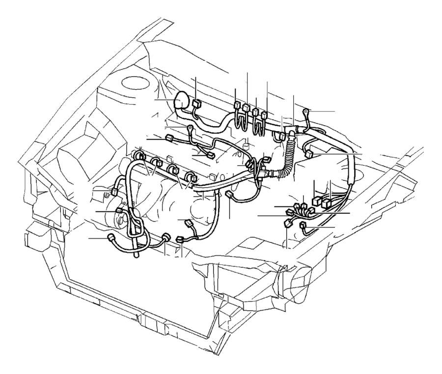 Volvo V40 Cable Harness. Cable Terminals. Connector