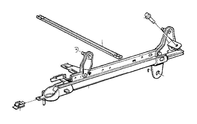 Volvo V70 Flange Screw. Seat, Adjustment, Subframe
