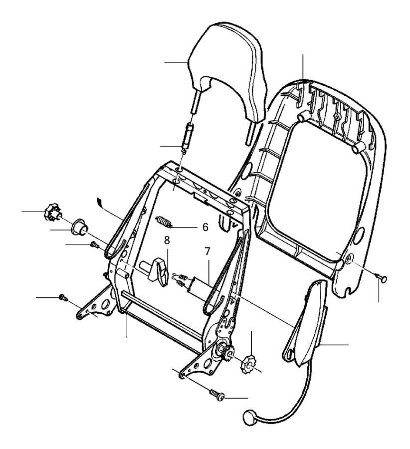 Volvo S70 Knob. Electrically Adjustable Seat. Seat